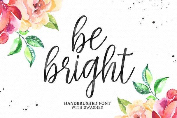 Be Bright Script шрифт скачать бесплатно