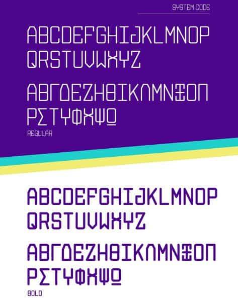 System Code шрифт скачать бесплатно