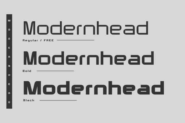 Modernhead Typeface шрифт скачать бесплатно