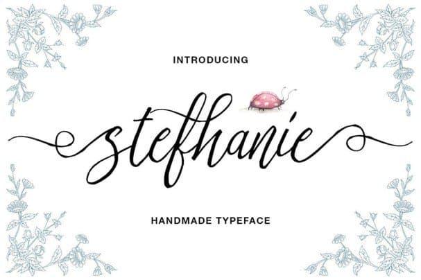 Stefhanie Typeface шрифт скачать бесплатно