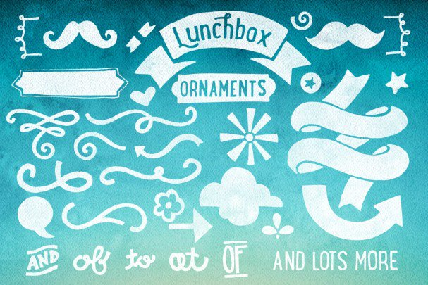 Lunchbox Ornaments шрифт скачать бесплатно