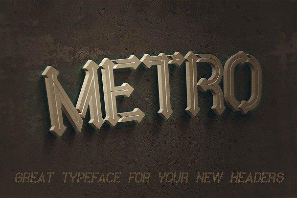 Metro - 10 Fonts Family шрифт скачать бесплатно