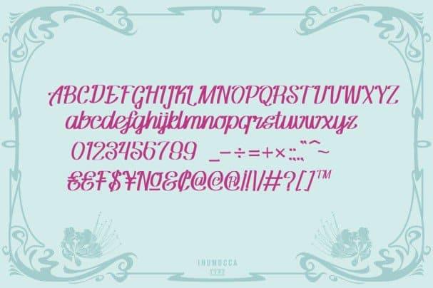 Flamboyan шрифт скачать бесплатно
