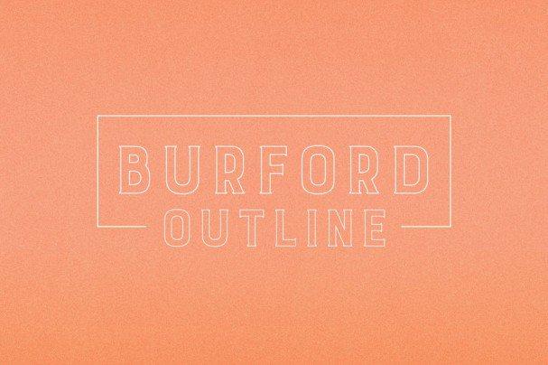 Burford Outline шрифт скачать бесплатно