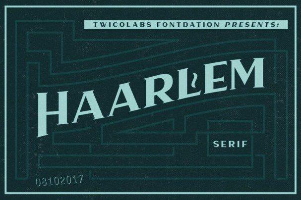 Haarlem Serif шрифт скачать бесплатно