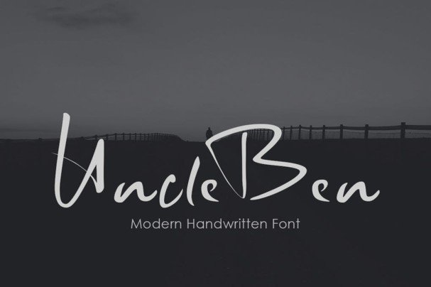 UncleBen - Signature   шрифт скачать бесплатно