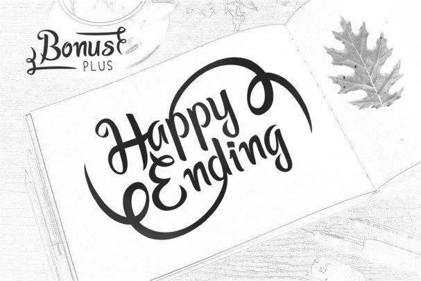 Happy Ending Typeface шрифт скачать бесплатно