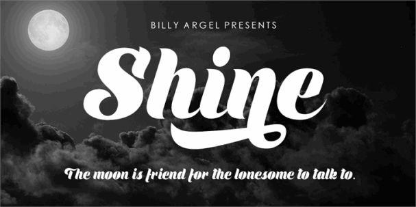 Shine шрифт скачать бесплатно
