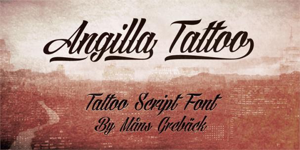 Angilla Tattoo шрифт скачать бесплатно