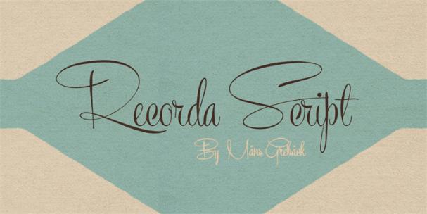 Recorda Script шрифт скачать бесплатно