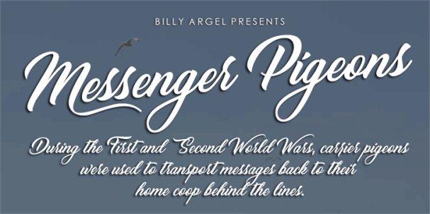 Messenger Pigeons шрифт скачать бесплатно