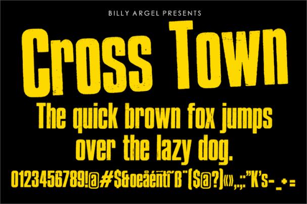 Cross Town шрифт скачать бесплатно