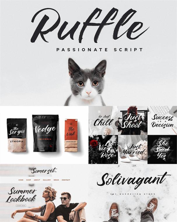 Ruffle Script шрифт скачать бесплатно
