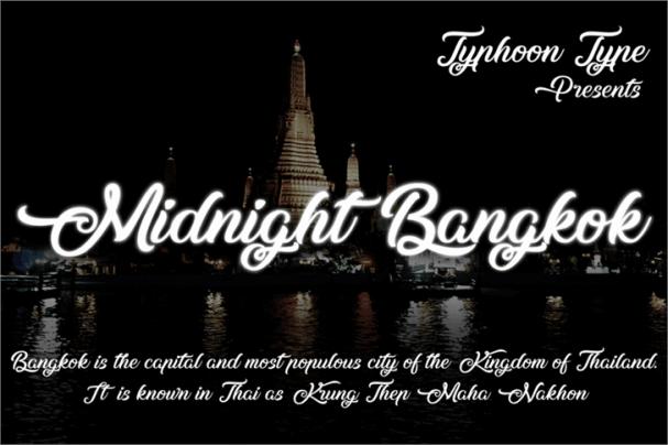 Midnight Bangkok шрифт скачать бесплатно