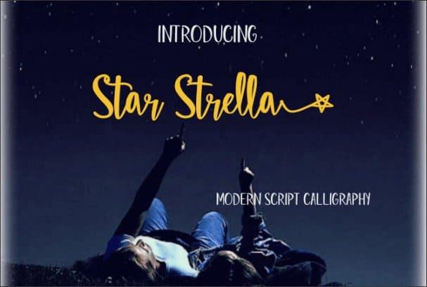 Star Strella шрифт скачать бесплатно