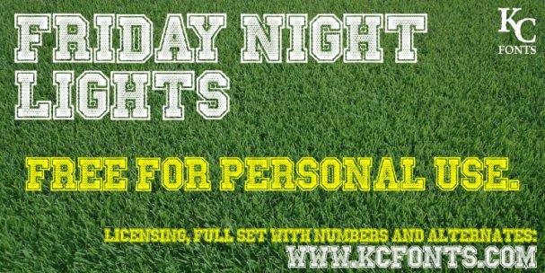 Friday Night Lights font шрифт скачать бесплатно