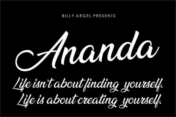 Ananda шрифт скачать бесплатно