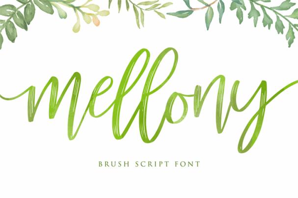 Mellony dry brush шрифт скачать бесплатно