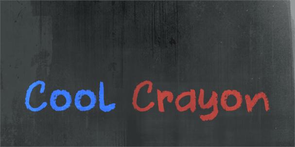 DK Cool Crayon шрифт скачать бесплатно