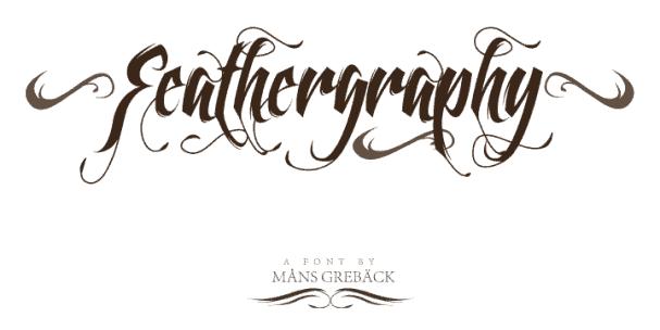 Feathergraphy шрифт скачать бесплатно