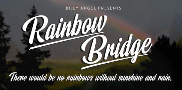 Rainbow Bridge шрифт скачать бесплатно