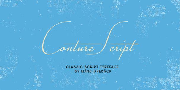 Conture Script шрифт скачать бесплатно