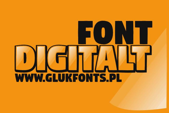 Digitalt шрифт скачать бесплатно