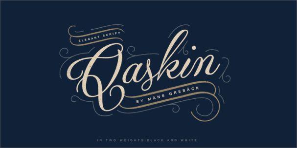 Qaskin Black шрифт скачать бесплатно