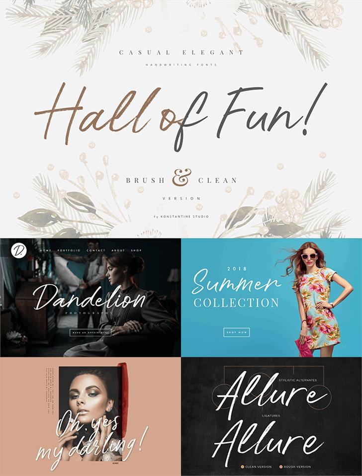 Hall Of Fun шрифт скачать бесплатно