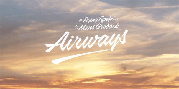 Airways шрифт скачать бесплатно