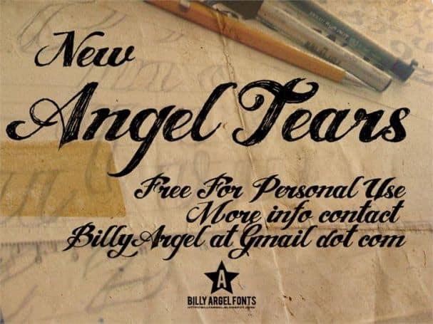 ANGEL TEARS font шрифт скачать бесплатно