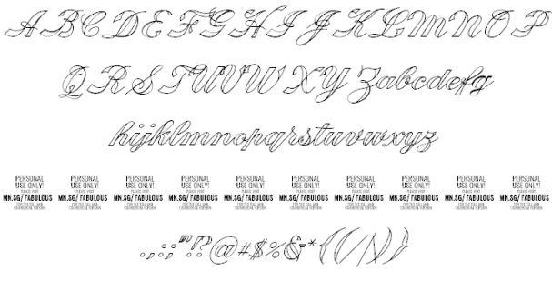 Fabulous шрифт скачать бесплатно