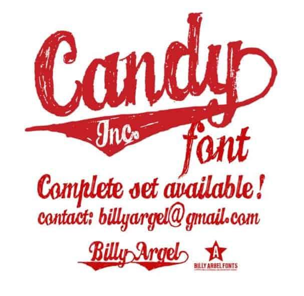 CANDY INC. font шрифт скачать бесплатно