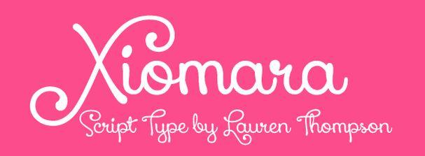 Xiomara font шрифт скачать бесплатно