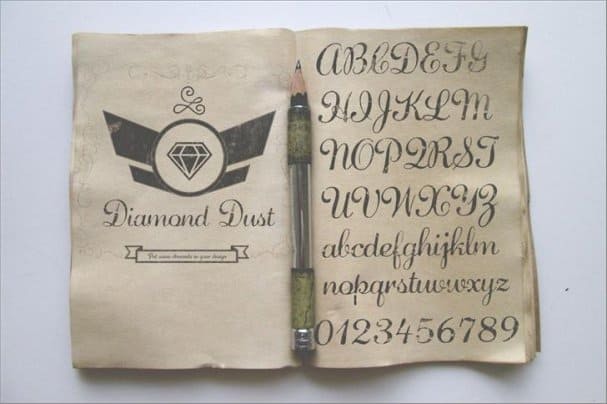 Diamond Dust шрифт скачать бесплатно