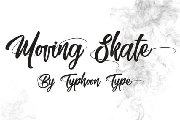 Moving Skate   шрифт скачать бесплатно