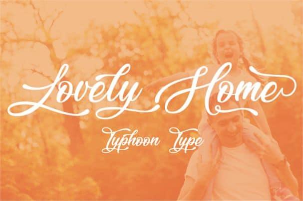 Lovely Home font шрифт скачать бесплатно