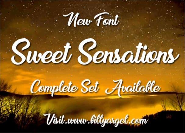 Sweet Sensations шрифт скачать бесплатно
