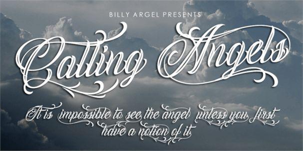 Calling Angels шрифт скачать бесплатно