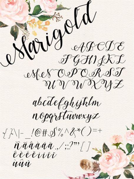 Marigold font шрифт скачать бесплатно