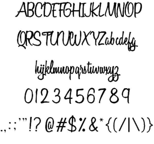 Variane Script font шрифт скачать бесплатно