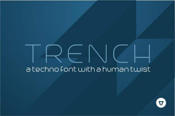 Trench   шрифт скачать бесплатно