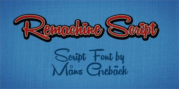 Remachine Script шрифт скачать бесплатно