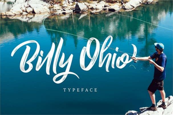 Billy Ohio font шрифт скачать бесплатно