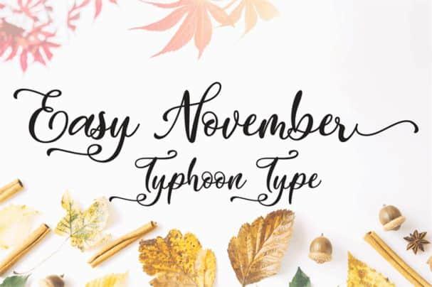 Easy November   шрифт скачать бесплатно