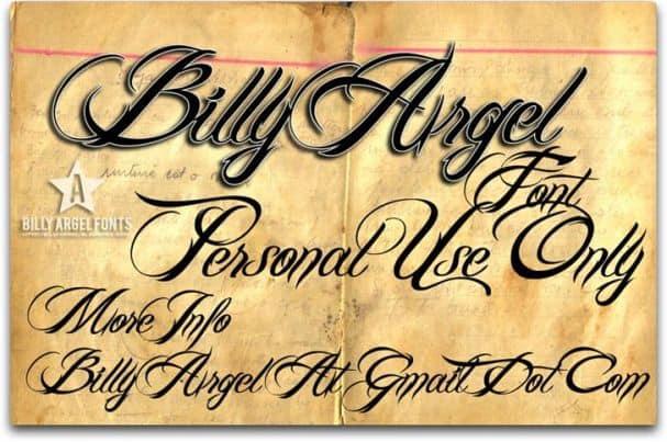 Billy Argel Font шрифт скачать бесплатно