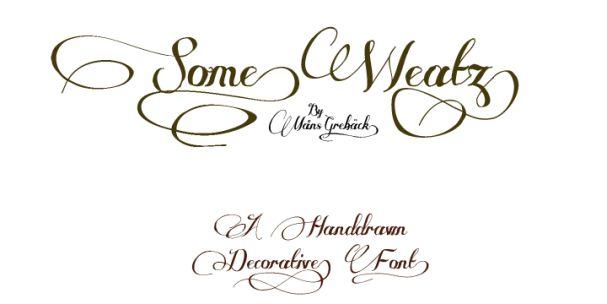 Some Weatz font шрифт скачать бесплатно