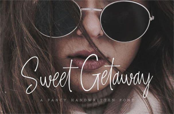 Sweet Getaway шрифт скачать бесплатно