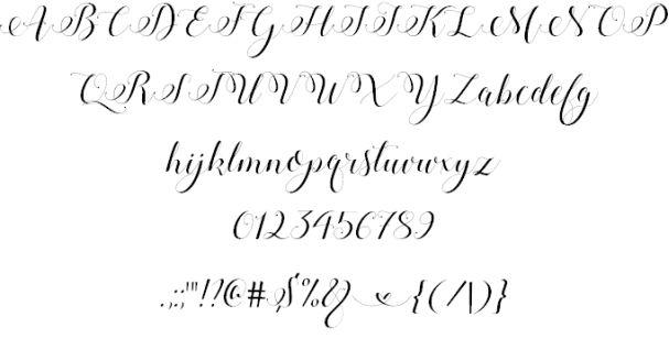Stylish Calligraphy шрифт скачать бесплатно