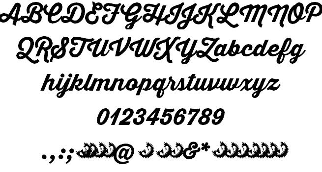 Thirsty Script Extrabold шрифт скачать бесплатно